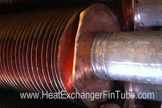 Aluminum & Copper Fins Are Embedded Into SMLS Stainless Steel Tube of TP304 / TP304L